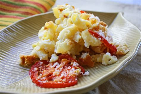 ina mac and cheese macaroni and cheese with tomatoes cooking on the ranch