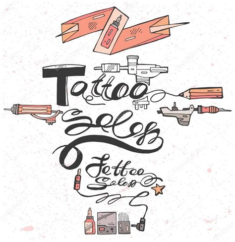 tattoo font vector hand draw lettering text for tattoo salon vector