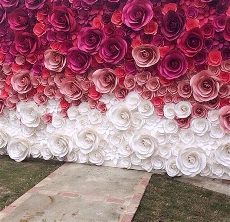 Wedding Backdrop With Paper Flowers by Wedding Backdrop Large Paper Flowers Paper Flower Backdrop