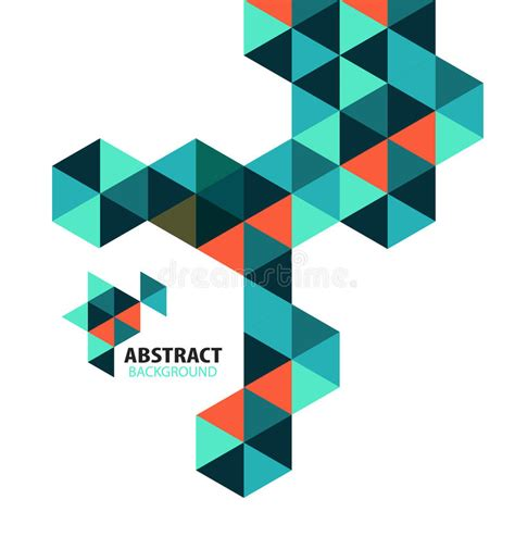 abstract shape pattern vector abstract mosaic geometric shapes isolated stock vector