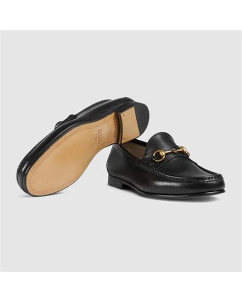 gucci 1953 horsebit loafer sale gucci 1953 horsebit leather loafer in black for lyst
