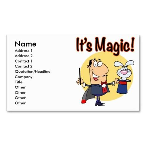 196 Best Images About Magician Business Cards On Pinterest Genie L Damasks And Lost Magician Business Card Template