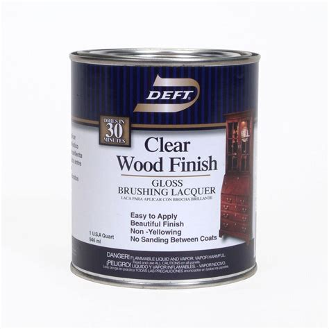 deft 1 qt gloss interior clear wood finish brushing