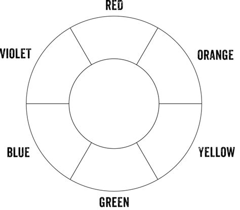 Basic Color Wheel Template color wheel chart 5 plus printable diagrams