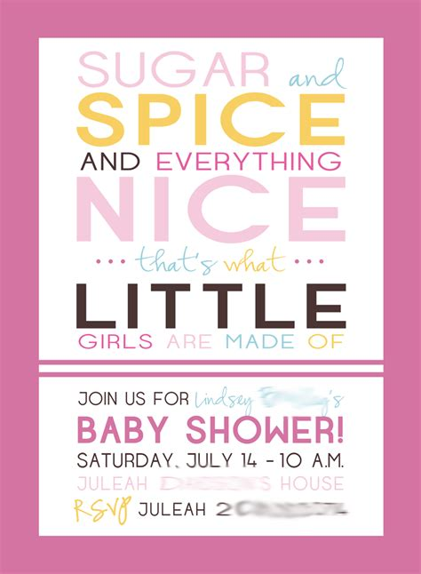 Sugar And Spice Baby Shower Invitation Card by Baby Shower Invitations Sugar And Spice Baby Shower