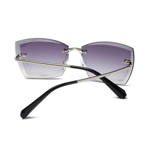 Rimless Square Sunglasses square rimless sunglasses top tier style