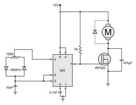 12v dc motor speed circuit diagram hho