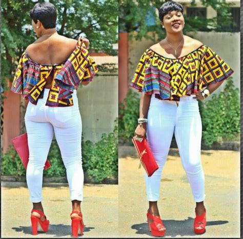 best stylish ankara wears 14 trendy ankara tops and jeans for curvy ladies
