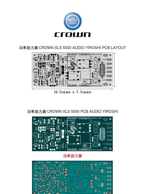 Pcb Audio Yiroshi crown xls 5000 audio yiroshi pcb