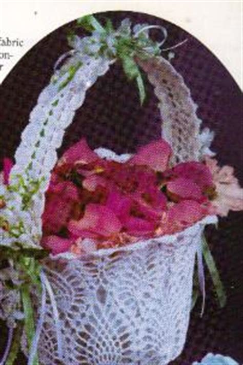 pattern flower girl basket free crochet pattern for flower girl basket crochet and
