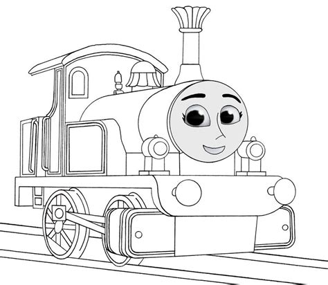 rosie train coloring page thomas the train diesel 10 coloring pages