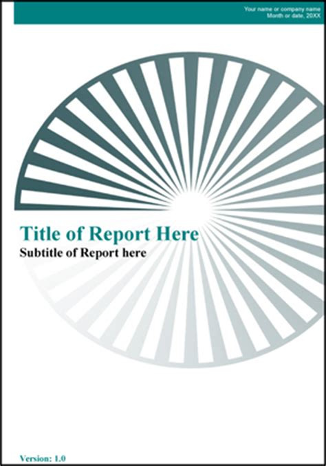 report front page template report template openoffice writer guide 2 office
