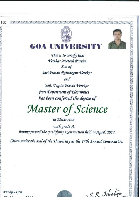 Is Mba Professional Degree Or Master Degree by Masters Degree Certificate
