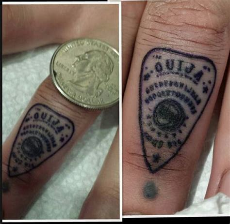 finger tattoo yes or no ouija planchette finger tattoo ouija board pinterest