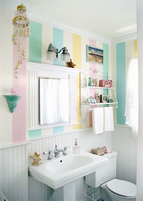 cute bathrooms cute pastel striped bathroom pictures photos and images