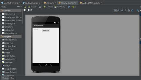 android studio layout half android studio intent ve yeni ekran oluşturma 220 mit k 214 se