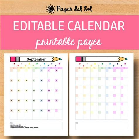 printable planning calendar for teachers pinterest the world s catalog of ideas