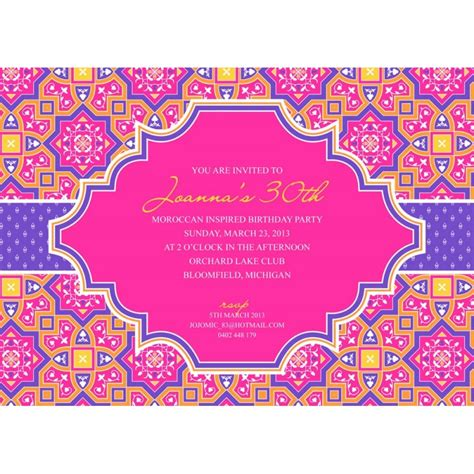 indian birthday card template moroccan printable invitation