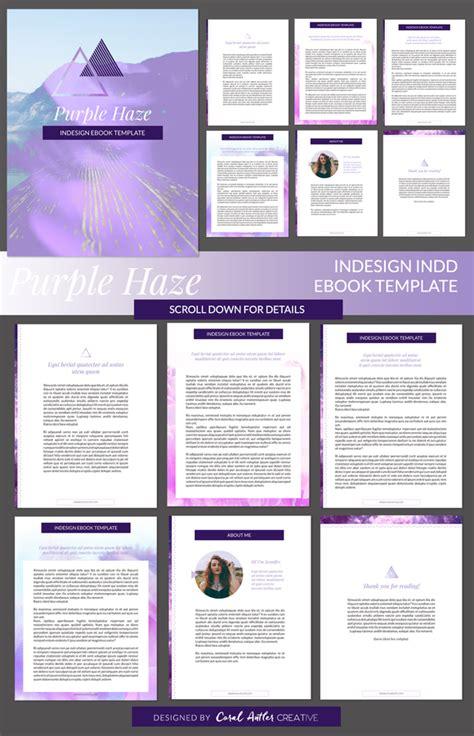 Purple Haze Indesign Ebook Template By Coral Antler Creative On Creativemarket Digital Indesign Presentation Templates