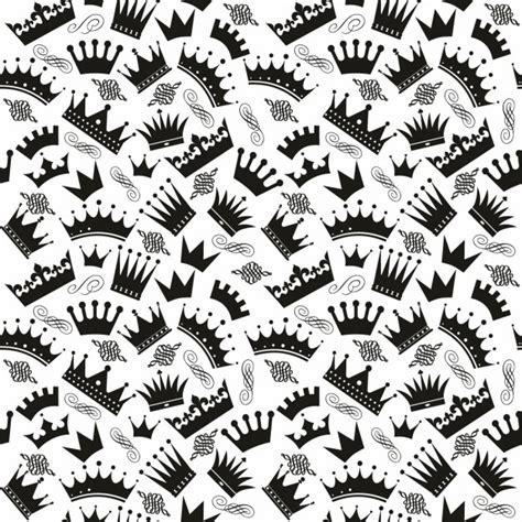 imagenes blanco y negro editar patr 243 n blanco y negro con coronas descargar vectores gratis
