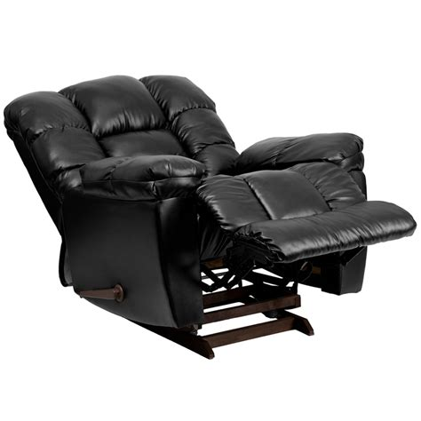 new era black leather chaise rocker recliner
