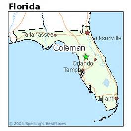 coleman florida map best places to live in coleman florida