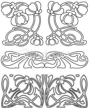 printable art nouveau designs bildresultat f 246 r stencil art nouveau stencil love