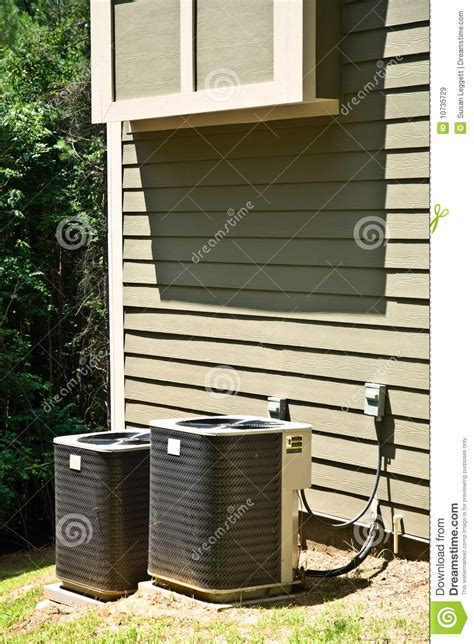 ac house unit air conditioner units on house royalty free stock images image 10735729