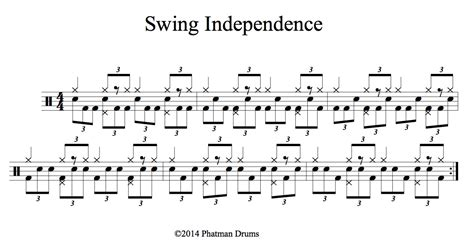swing drummers independence phatman drums