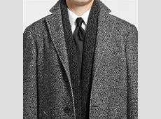 Canali Kei Unstructured Herringbone Wool-Blend Overcoat in ... White Gucci Shoes For Men