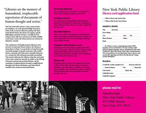 brochure templates new york 12 best library brochures images on pinterest brochures