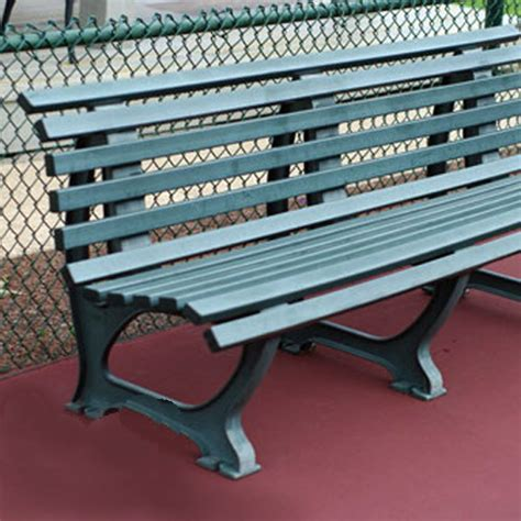 tennis bench 6 5 deluxe courtside tennis bench
