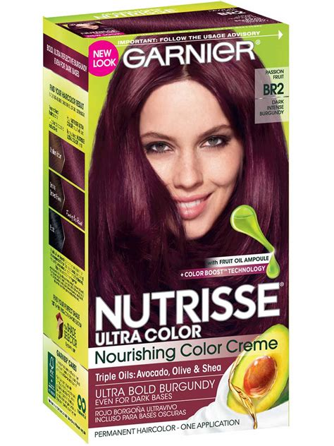 garnier nutrisse hair color chart nutrisse ultra color burgundy hair color