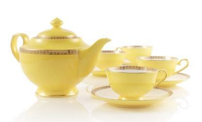 Ethnic Styles Kyushu Tea Set by Beautiful Abodes Tea Time Noble Poppy Bone China Tea Set