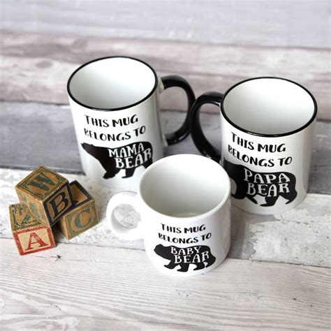design mug baby family bear mugs baby mama papa bear set by the best of