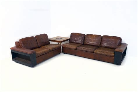 Cool Sofas For Sale by Cool Leather Sofa With Bookcase In The Back Two Parts For