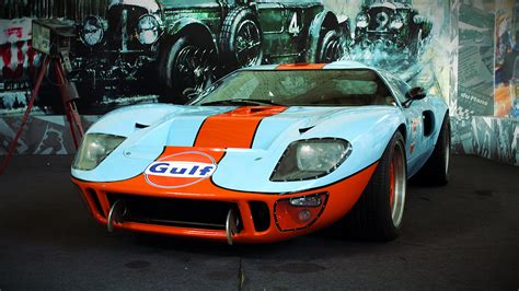white  orange gulf ford gt  image peakpx