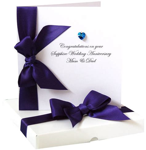 Wedding Anniversary Card Not On The High by Bedazzled Sapphire Wedding Anniversary Card By Made With