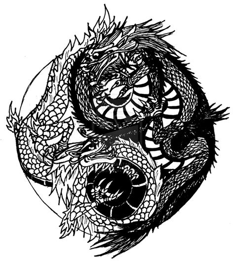 dragon yin yang tattoo 900x1008 source mirror