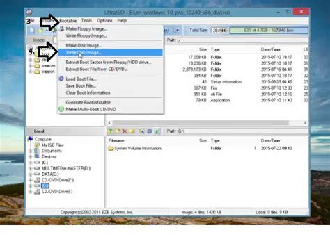 membuat bootable usb ultraiso cara membuat bootable flashdisk windows 10 sekedar trick