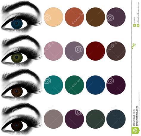 shadow color makeup matching eyeshadow to eye color stock photo image 50364534