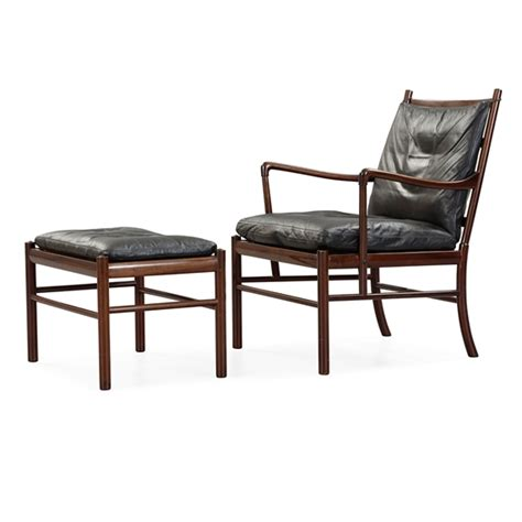 colonial chair and ottoman ole wanscher 2 works colonial chair pj 149 and