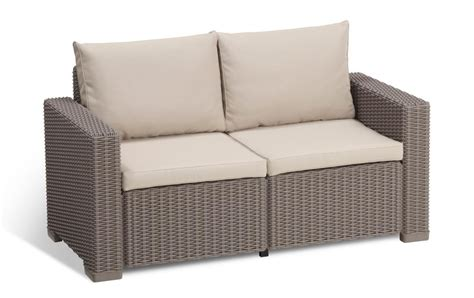 sofa california allibert by keter california 2 seater rattan sofa outdoor