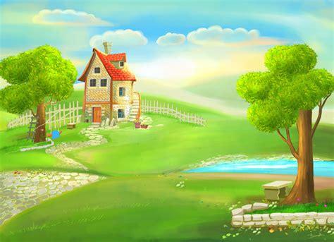 wallpaper cartoon home cartoon house painting by eydii on deviantart