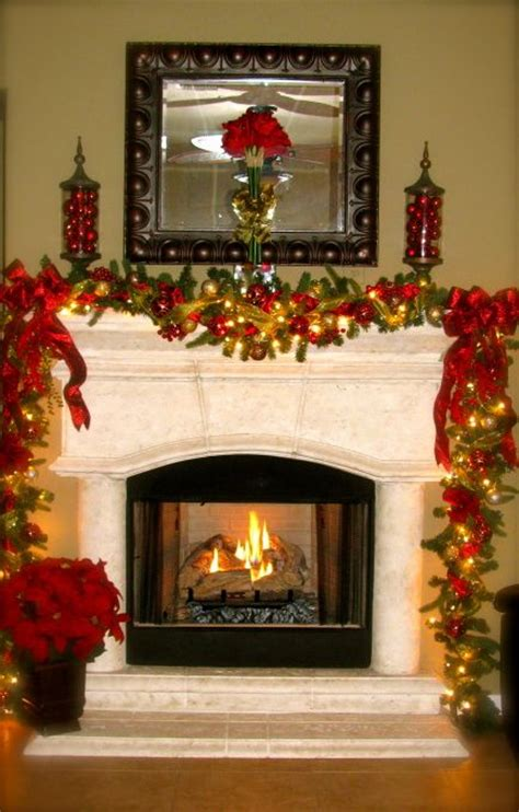 mantles fireplaces and garlands on pinterest