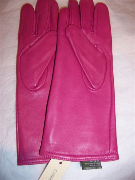 ladies hot pink leather gloves hot pink 100 cashmere lined leather gloves