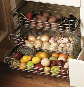 wire pull out baskets kitchens storage solutions