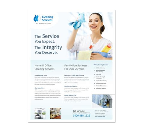 cleaning service brochure templates cleaning janitorial services flyer template