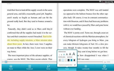 format ebook di android migliori lettori di e book per android