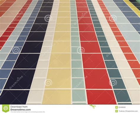 colorful checked pattern of bathroom floor tiles stock photo image 52409032